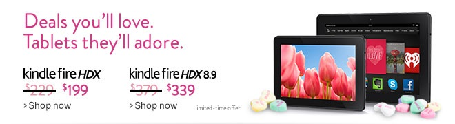 Kindle Fire HDX sale V-day 2014